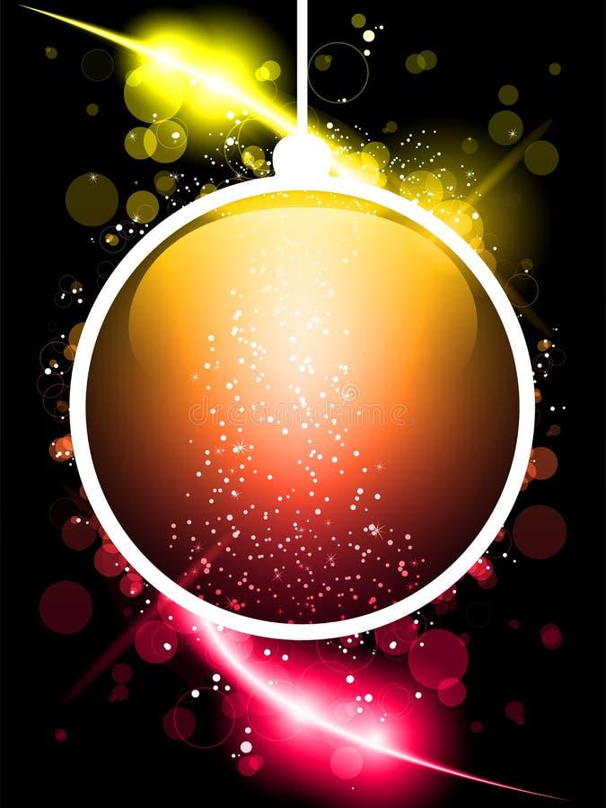圣诞快乐球激光氖 向量例证