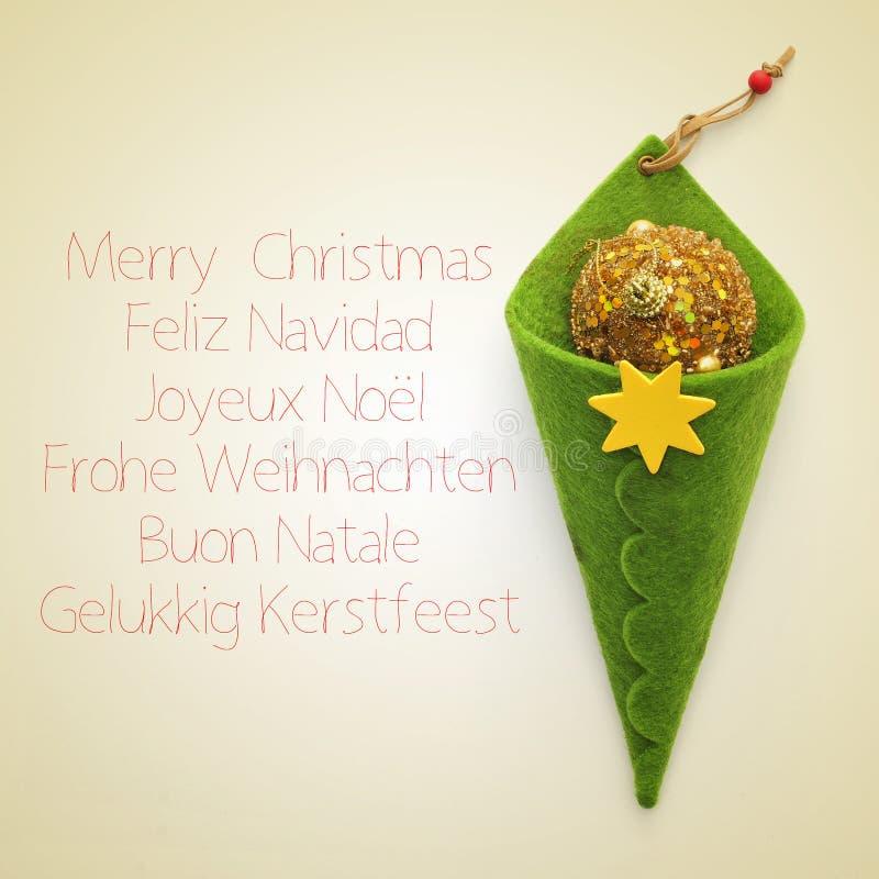 圣诞快乐用不同的语言 免版税库存图片