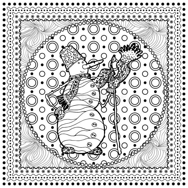 黑圣诞快乐的传染媒介单音彩色插图 库存例证