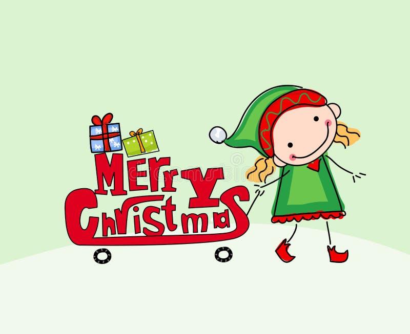 圣诞快乐看板卡 向量例证
