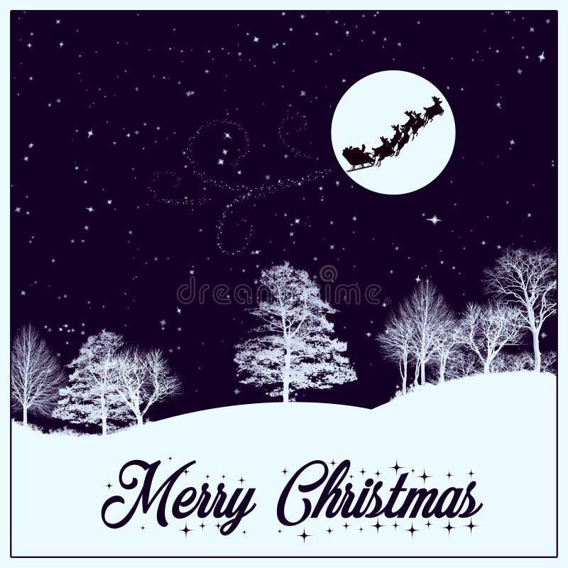 圣诞快乐看板卡 库存例证