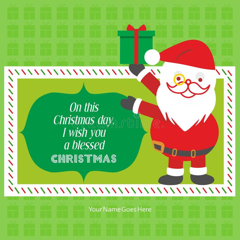 圣诞快乐祝愿招呼模板 皇族释放例证