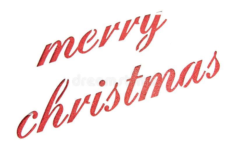 圣诞快乐笔记被删去纸 皇族释放例证