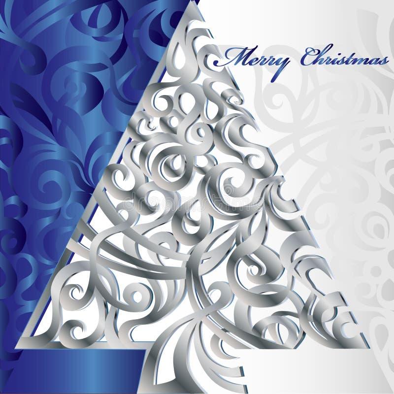 圣诞快乐结构树 库存例证