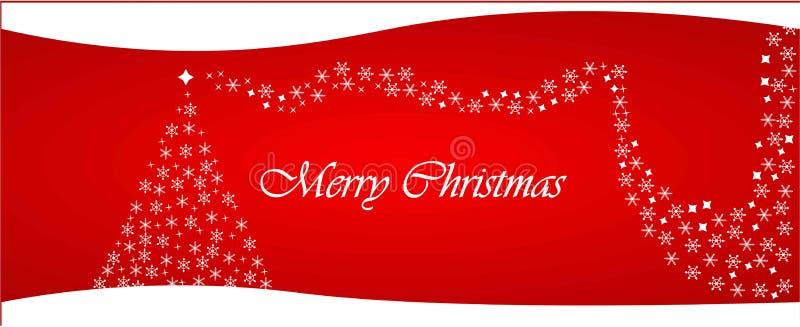 圣诞快乐网标题 免版税图库摄影