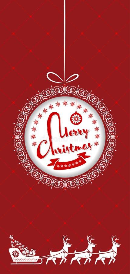 圣诞快乐贺卡、飞行物或者海报设计 也corel凹道例证向量 库存例证