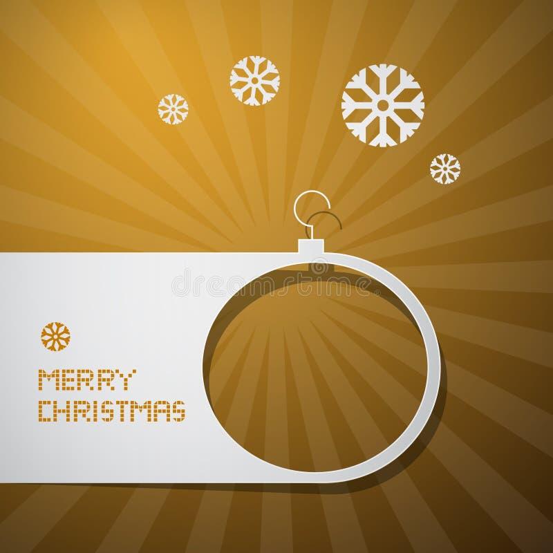 圣诞快乐金黄背景 皇族释放例证