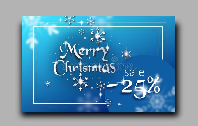 圣诞快乐销售横幅 库存例证