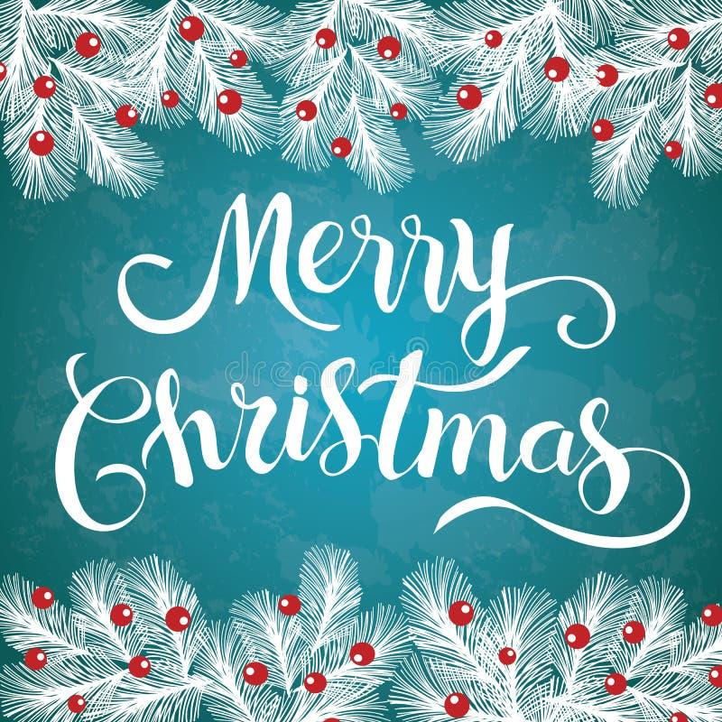 圣诞快乐闪烁的书信设计 皇族释放例证