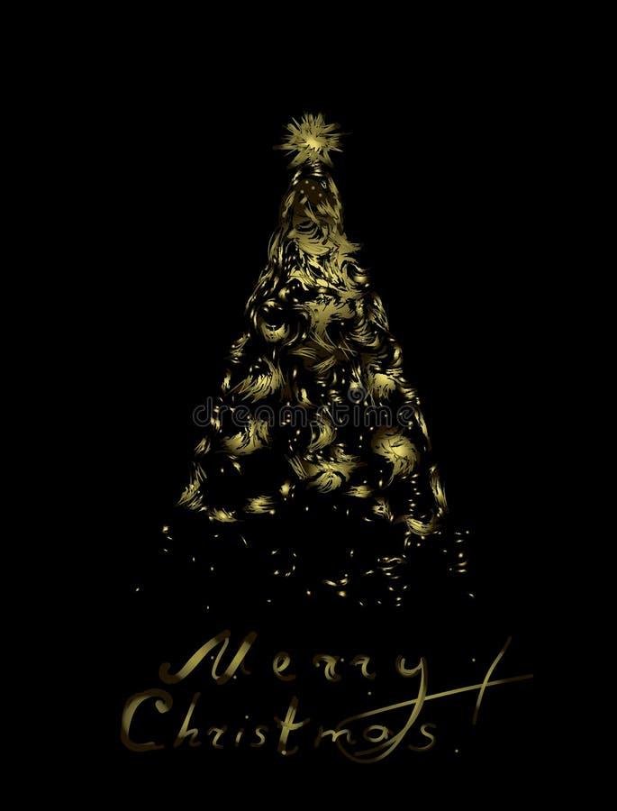 圣诞快乐,贺卡 皇族释放例证