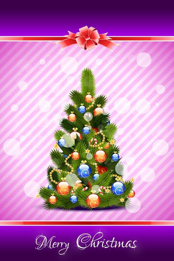 圣诞快乐贺卡 向量例证
