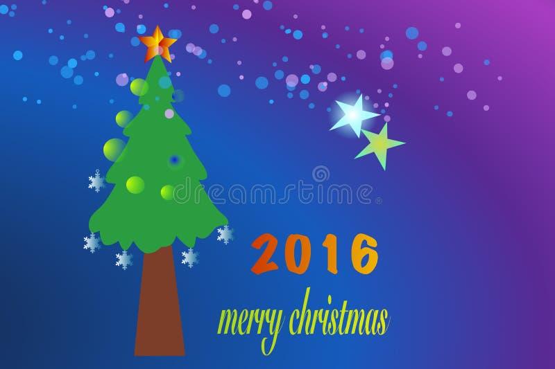 圣诞快乐2016年 库存图片
