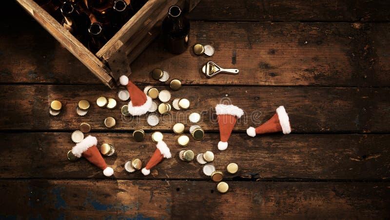 圣诞晚会庆祝概念或背景 库存图片
