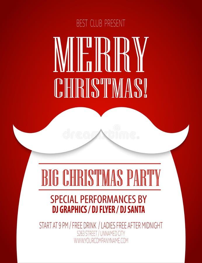 圣诞晚会海报 也corel凹道例证向量 向量例证