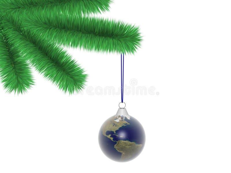 圣诞树世界 向量例证