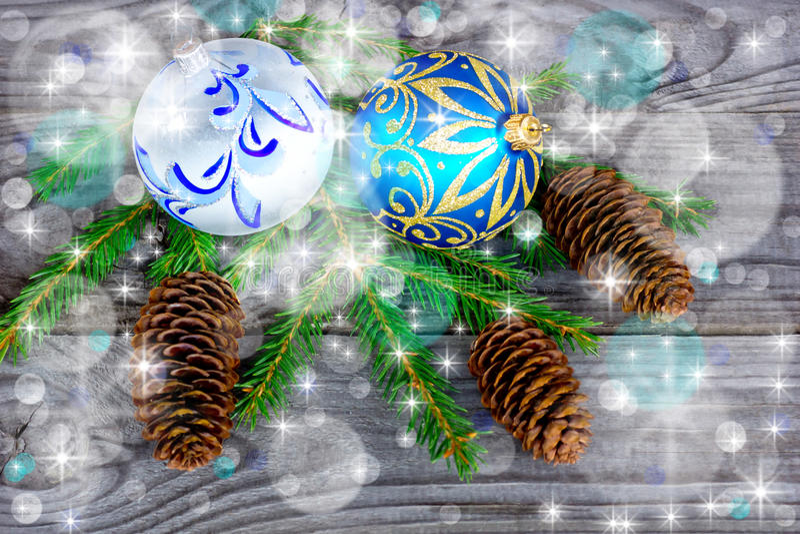 圣诞树中看不中用的物品 库存图片