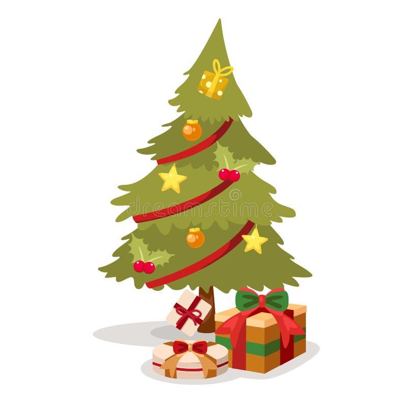 圣诞树传染媒介 向量例证