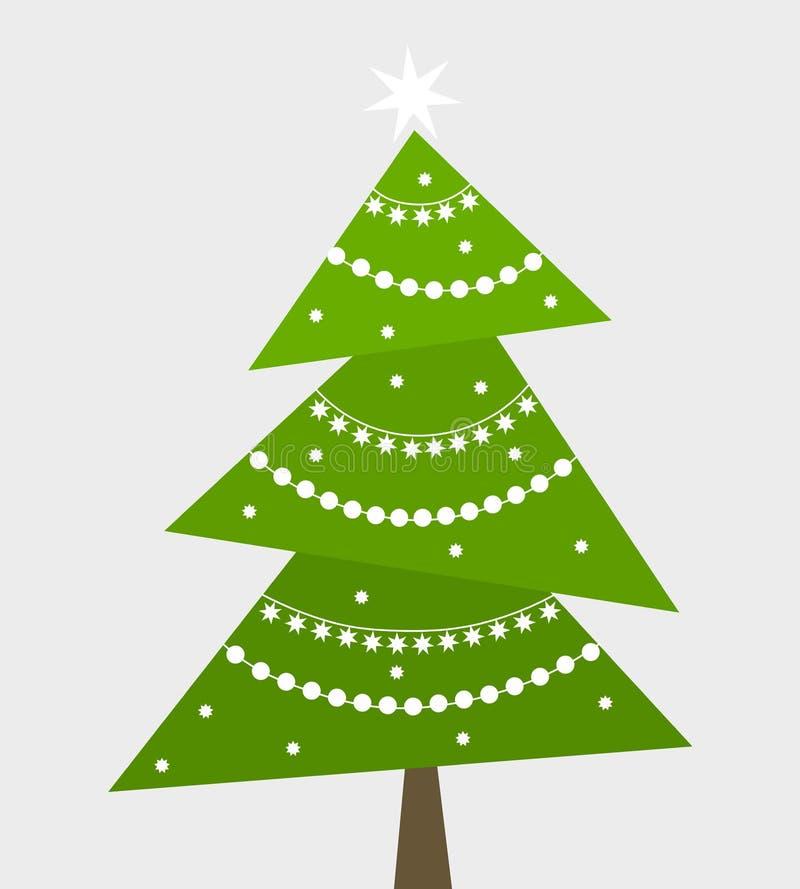 圣诞树传染媒介 库存例证