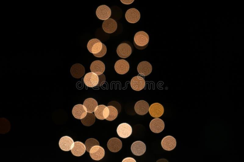 圣诞树光剪影 免版税库存照片