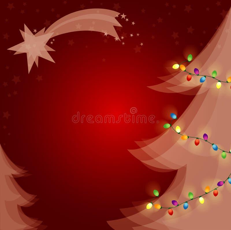 圣诞树光 库存例证
