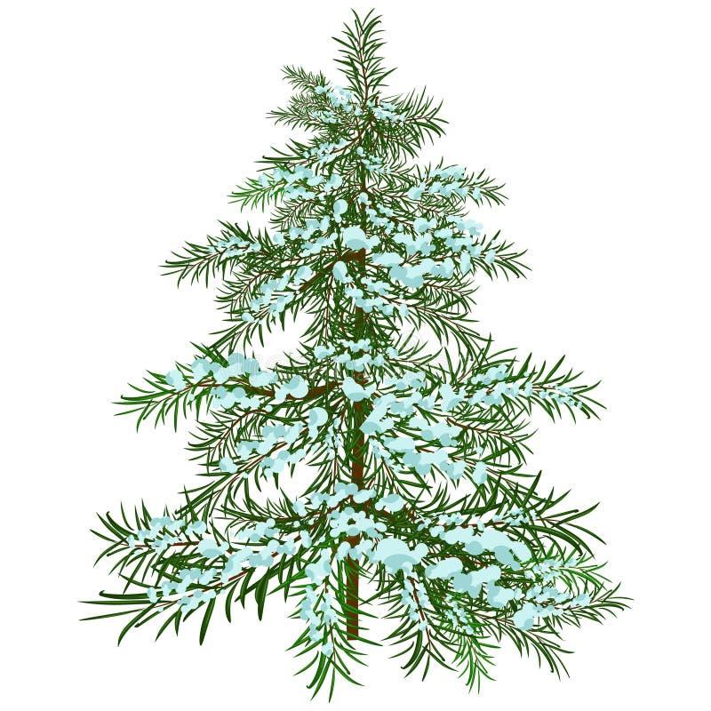圣诞树冬天 库存例证