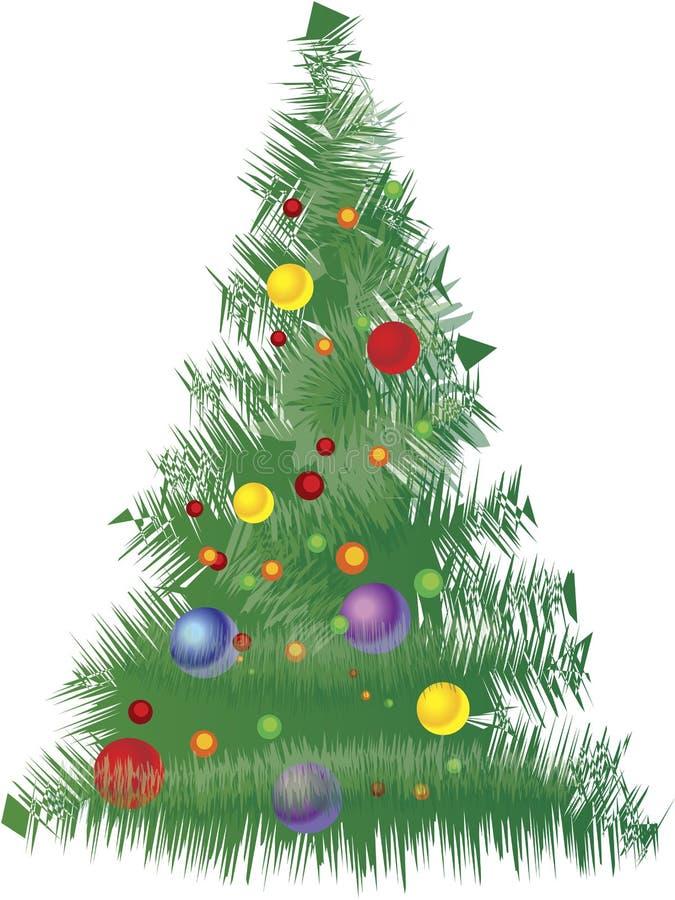 圣诞树向量 库存例证
