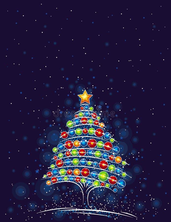圣诞树向量 皇族释放例证