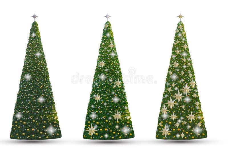 圣诞树和新年有金球à¸美好的eer 免版税图库摄影