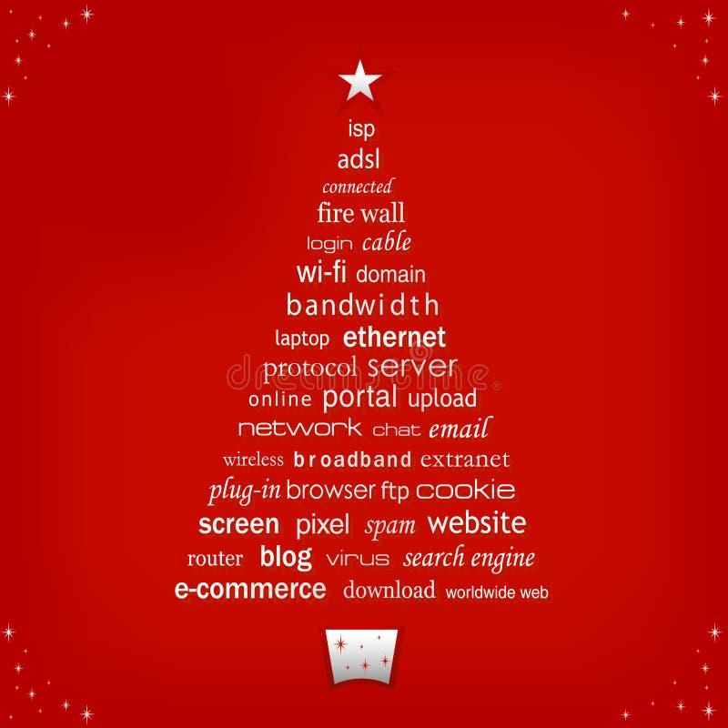 圣诞树字 皇族释放例证