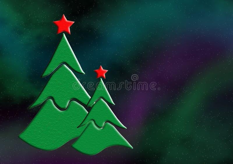 圣诞树孪生 库存例证