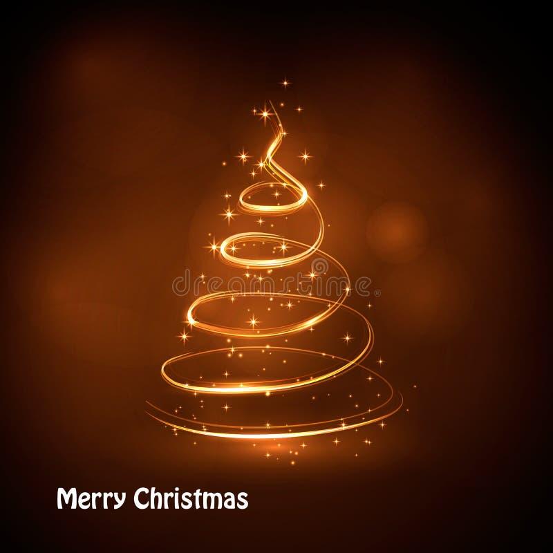 圣诞树摘要 皇族释放例证