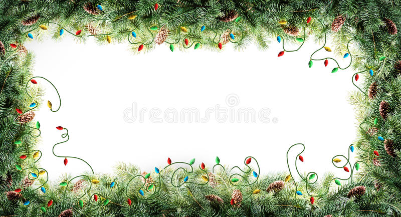 圣诞树框架 库存照片