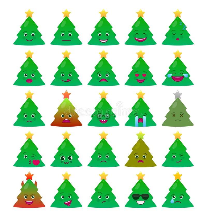 圣诞树滑稽的意思号被隔绝的集合 皇族释放例证