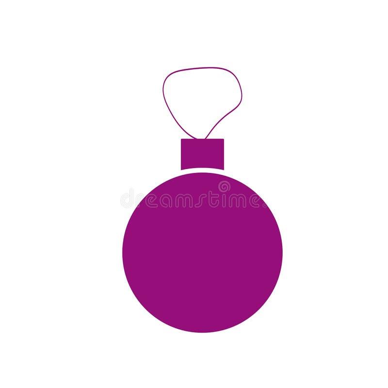 圣诞树玩具或新年球被隔绝的传染媒介图象 库存例证