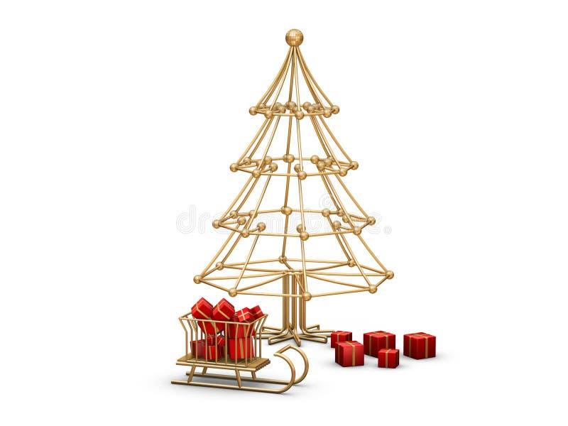 圣诞树电汇 皇族释放例证