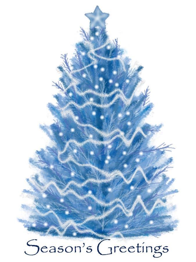 圣诞树白色 库存例证