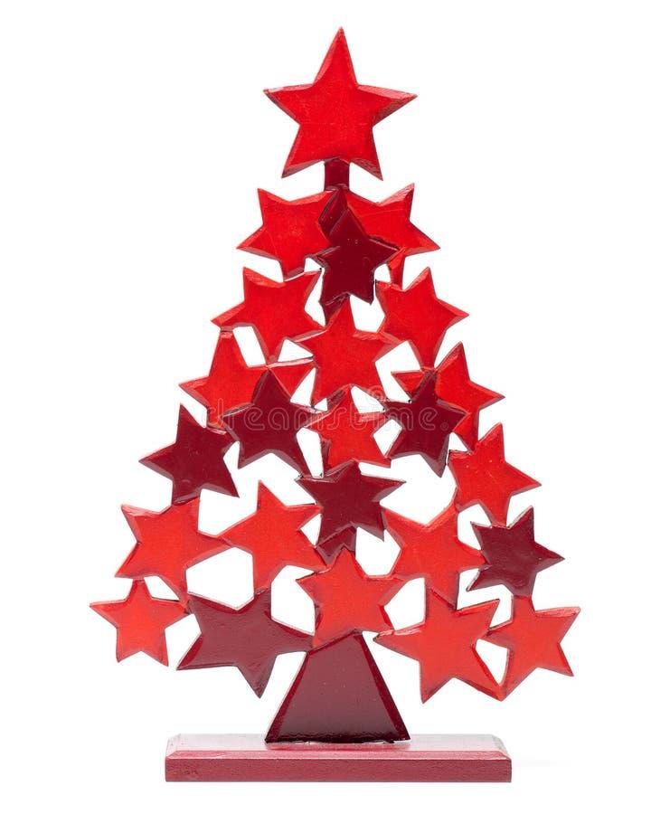 圣诞树白色 库存图片