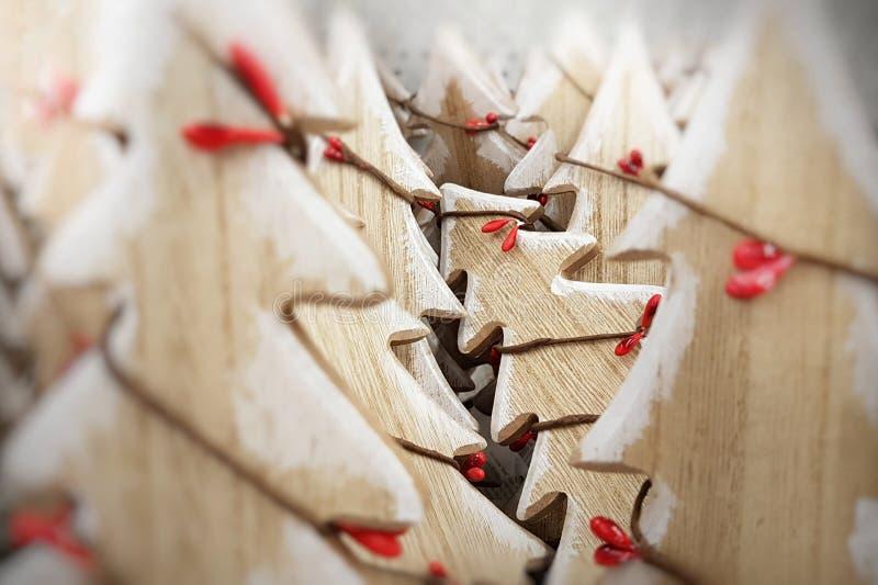 圣诞树的一个木图 库存照片