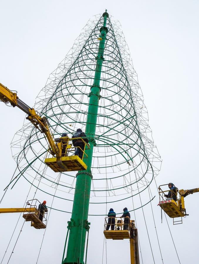 圣诞树的设施 免版税库存图片
