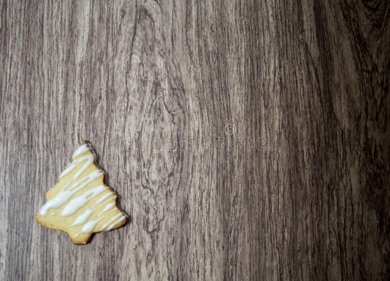 圣诞树糖屑曲奇饼 免版税图库摄影