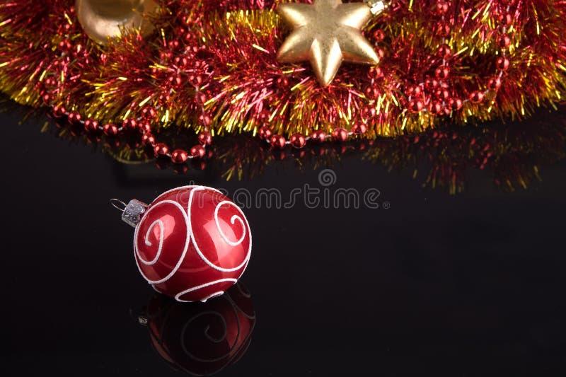 圣诞树装饰品 库存照片