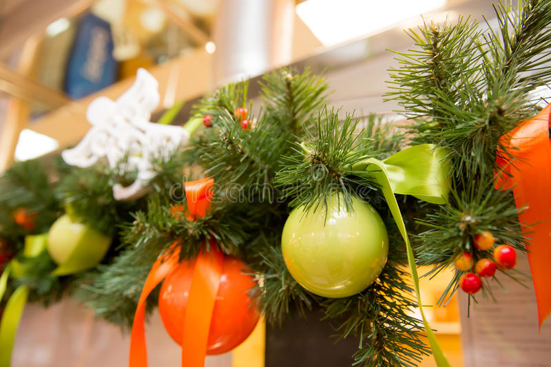 圣诞树装饰新年 免版税库存照片