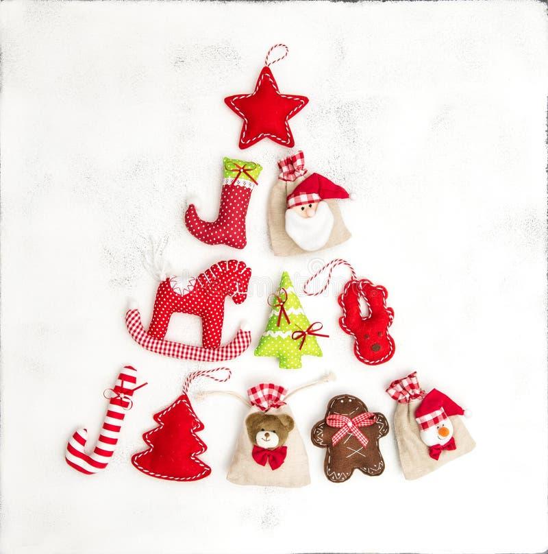 圣诞树装饰礼物请求假日背景 库存图片