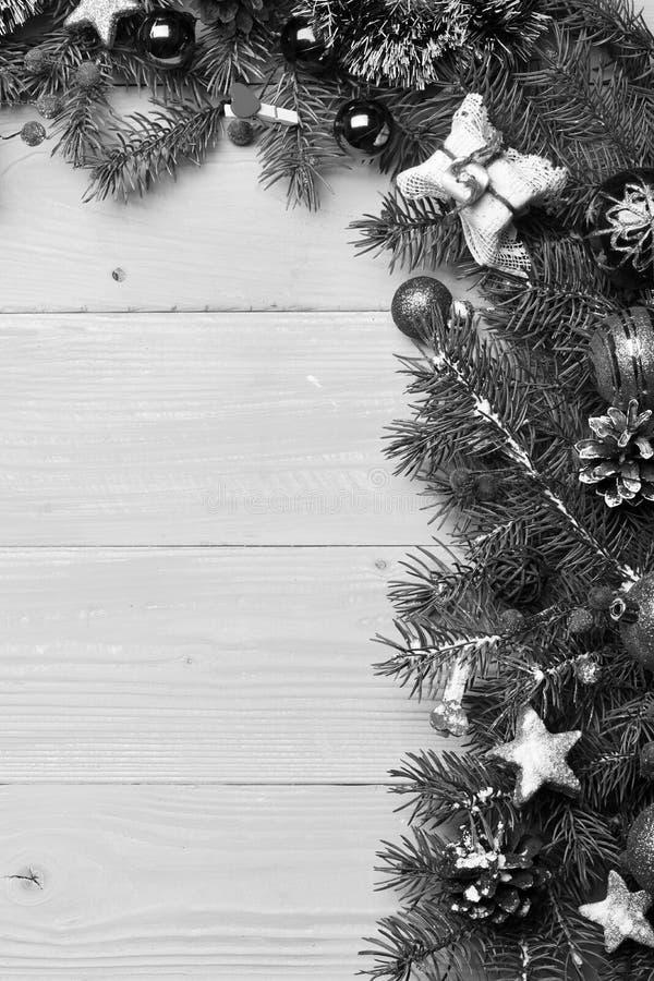 圣诞树装饰,拷贝空间的构成 库存图片