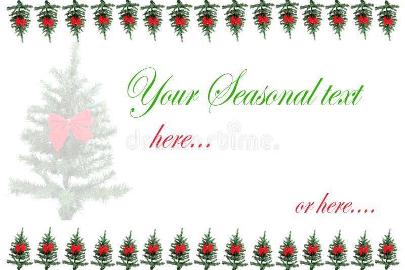 圣诞树贺卡 库存图片
