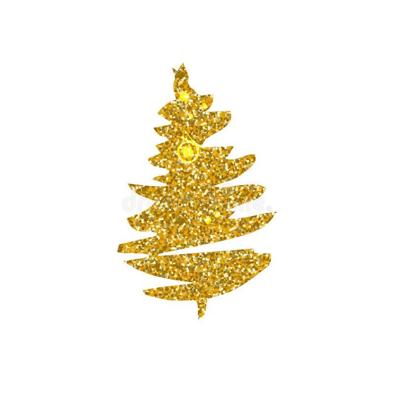 圣诞树剪影 库存例证