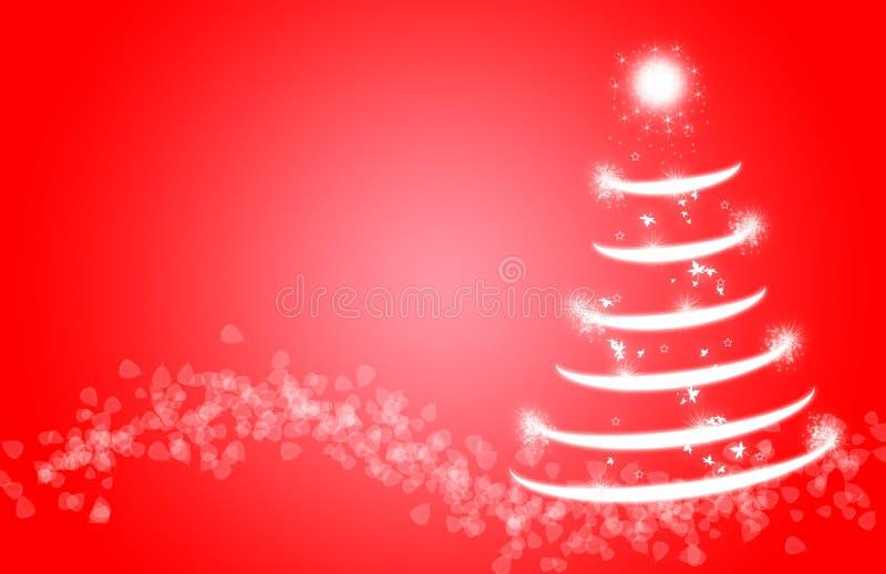 圣诞树闪闪发光不可思议闪烁的雪 库存例证
