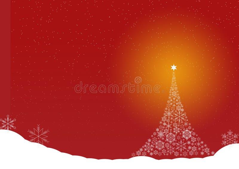 圣诞树雪水晶雪 库存照片