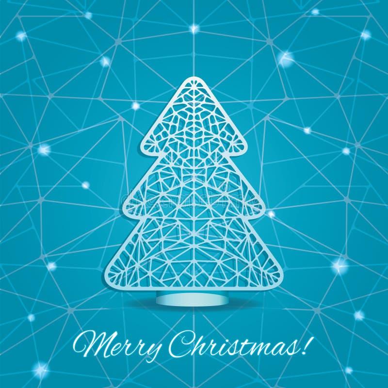 Download 圣诞树风格化切口纸 向量例证. 插画 包括有 织法, 例证, 模式, 唯一, 蓝色, 庆祝, 网格, 节假日 - 62528663