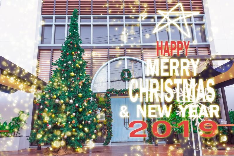 圣诞树,新年2019年,礼物,愉快,圣诞老人,计数下来 库存照片